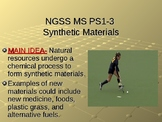 NGSS MS PS1-3 Synthetic Materials PowerPoint