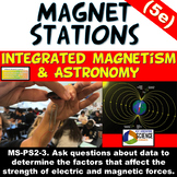NGSS MS-PS2-3 MS-PS2-5 Integrated 5e Magnet Stations Earth's Magnetic Poles CER