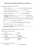 NGSS MS PS2.A Test: Motion and Stability: Forces and Interactions