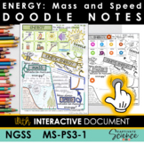 NGSS MS-PS3-1 Energy Doodle Notes Plus INTERACTIVE