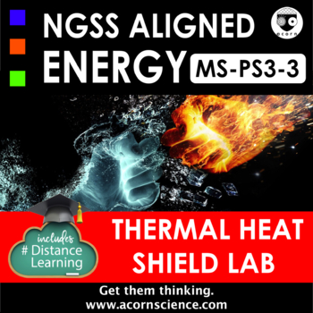Middle School NGSS MS-PS3-3 Thermal Energy Transfer Insulation Lab