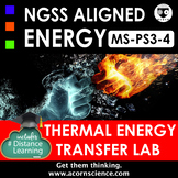Middle School NGSS MS-PS3-4 Thermal Energy Transfer Lab
