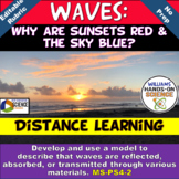 NGSS MS-PS4-2 Waves: Why are Sunsets Red & The Sky Blue? PowerPoint Modeling