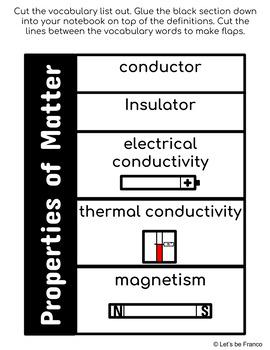 NGSS Matter Interactive Notebook