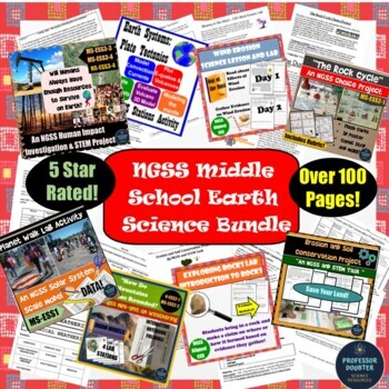 Earth Science NGSS Bundle Middle School Geology Labs Activities 8 Products!