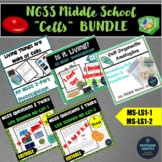 Cells Bundle of Labs NGSS Middle School MS-LS1-1 MS-LS1-2 FREE Lesson Template