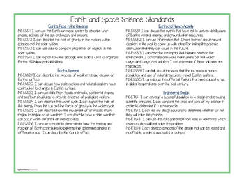 """NGSS Sixth Grade (Earth Science) Standards """"I Can"""" Posters & Statement Cards"""