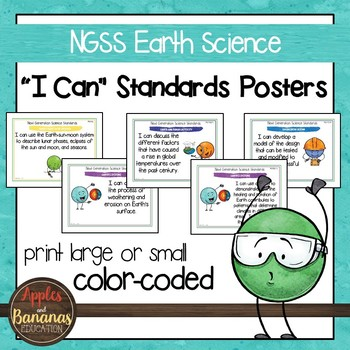 """NGSS Sixth Grade (Earth Science) Standards """"I Can"""" Posters"""