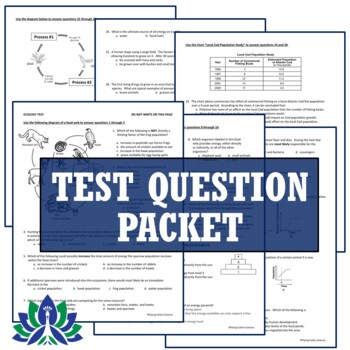 Ecosystems Ecology Test Assessment (Middle School NGSS Aligned) MS-LS2