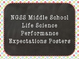 NGSS Middle School Life Science Performance Expectations Posters