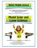 NGSS Middle School Model Solar and Lunar Eclipses ESS1-1