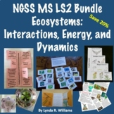 Ecosystems: Interactions, Energy and Dynamics NGSS MS LS2 Bundle Save 20%
