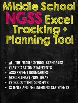 NGSS Middle School Science Tracking and Planning Tool