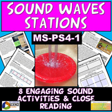 NGSS MS-PS4-1: Middle School Sound Waves Stations & Close Reading