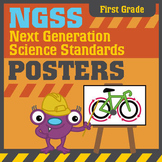 NGSS Next Generation Science Standards Posters: First Grade