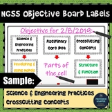 NGSS Objective Labels and Targets for Chalkboard Whiteboard or as Posters