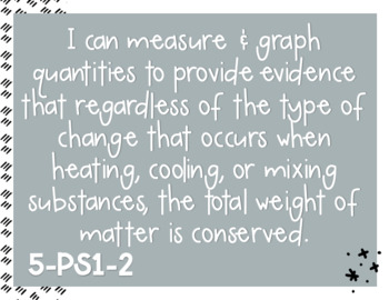 NGSS Objectives - 5th Grade I Can Statement Posters - Chevron