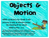 NGSS-Objects and Motion Vocabulary with bonus simple machines vocab.