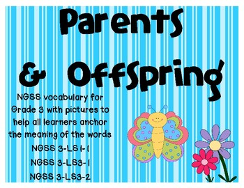 NGSS Parents and Offspring vocabulary cards