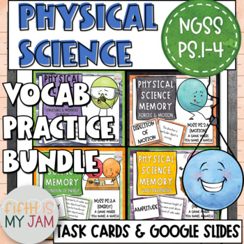 NGSS Physical Science Memory Game Bundle
