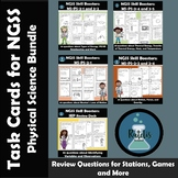NGSS  Physical Science Review Task Cards Bundle