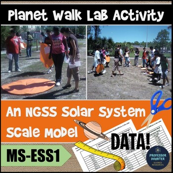 NGSS Planet Walk Activity - Modeling planets' distance from sun MS-ESS1-3