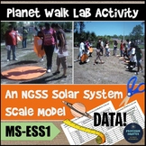 Scale Model of Solar System Lab Activity NGSS Middle School MS-ESS1-2 MS-ESS1-3