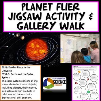 NGSS Planets Flier Jigsaw Activity and Gallery Walk