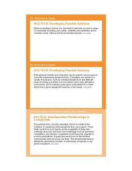 NGSS Planning Cards - HS-LS4 Biological Evolution: Unity and Diversity