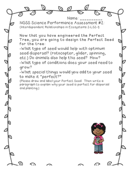 NGSS Plant/Seed Performance Assessment