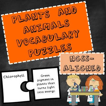NGSS Plants and Animals Vocabulary Puzzles