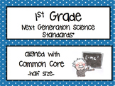 """1st Grade NGSS Posters """"I Can..."""""""