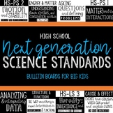 NGSS HIGH SCHOOL Standards Poster and Bulletin Board Set