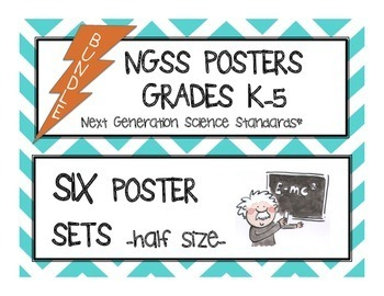 "NGSS Posters BUNDLE K-5 ""I Can..."" Next Generation Science"