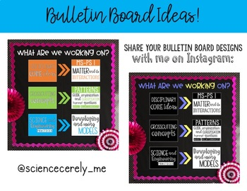 NGSS MIDDLE SCHOOL Standards Poster and Bulletin Board Set