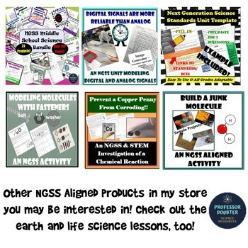 FREEBIE!! NGSS Posters Middle School PHYSICAL Science Performance Expectations
