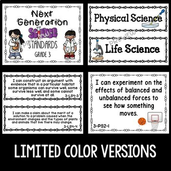 NGSS Posters for 3rd Grade in Lime and Turquoise