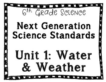 NGSS Posters for 6th grade