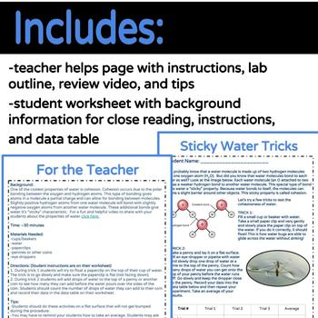 NGSS Practices: Data Collection & Interpretation Surface Tension of Water