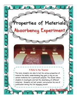 NGSS Properties of Materials Unit-6 Experiments & 1 Engine