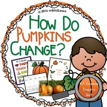 NGSS Pumpkin and Five senses Unit Kindergarten First Grade
