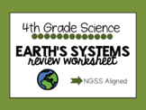 NGSS Resource - Earth's Systems Worksheet