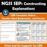 NGSS SEP: Constructing Explanations: CER Supporting Materials