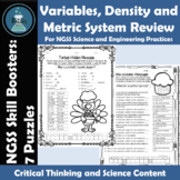 NGSS SEP Skill Boosters:  Variables, Density and Metric Sy