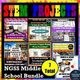 NGSS STEM Bundle of 7 Projects for Middle School