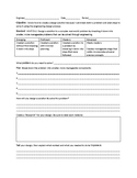 High School NGSS STEM Challenge Worksheet