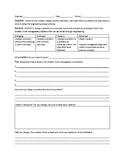 High School NGSS STEM Challenge Worksheet