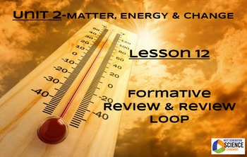 NGSS/STEM Lesson 12 Formative Assessment & Review Loop