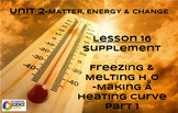 NGSS?STEM Lesson 16 Supplement--Freezing & Melting of H2O Heating Curve Part 1