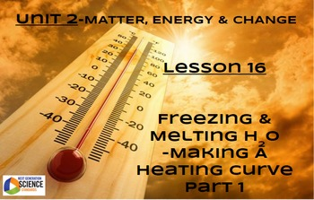 NGSS/STEM Lesson 16: The Freezing and Melting of H2O--Heating Curve Part 1